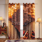 Fassbel 2 Panel Set Digital Printed Window Curtains Thermal Insulated for Bedroom Living Room Dining Room Kids Youth Room Window Drapes (W54× L95