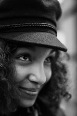 """""""Tout vrai regard est un désir."""" photo portrait femme noir et blanc"""