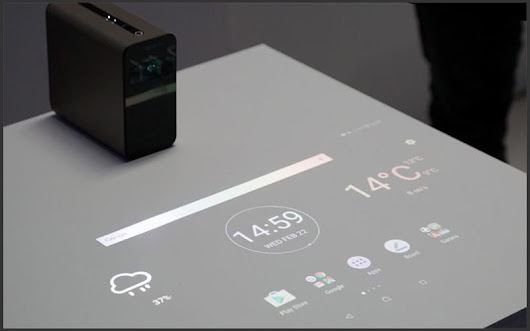 Xperia Touch: Turn Any Surface into A Touch Screen - A.I. Clarke