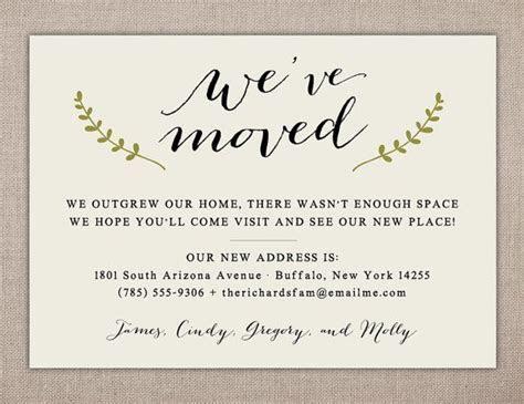 WE'VE MOVED   Printable Card, Simple Address Change