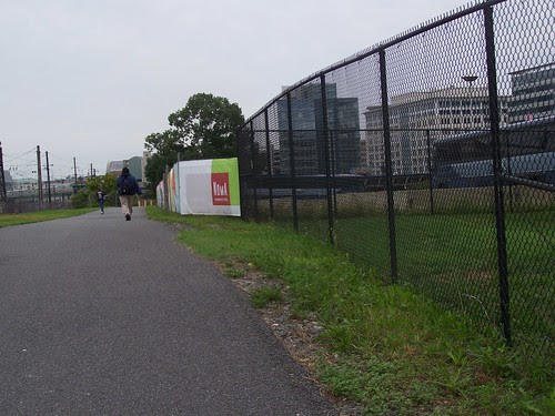 Metropolitan Branch Trail between K and L Streets NE plust NoMA Connected banners