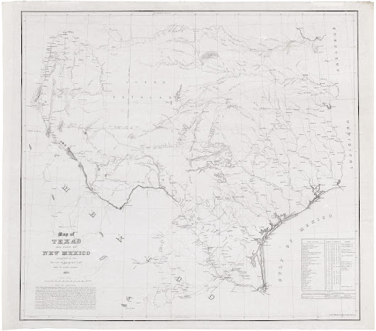 """One of the best illustrations of ante-bellum Texas and New Mexico"" (Reese) - Rare & Antique Maps"