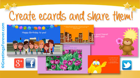 Create your own ecards, personalized ecards.