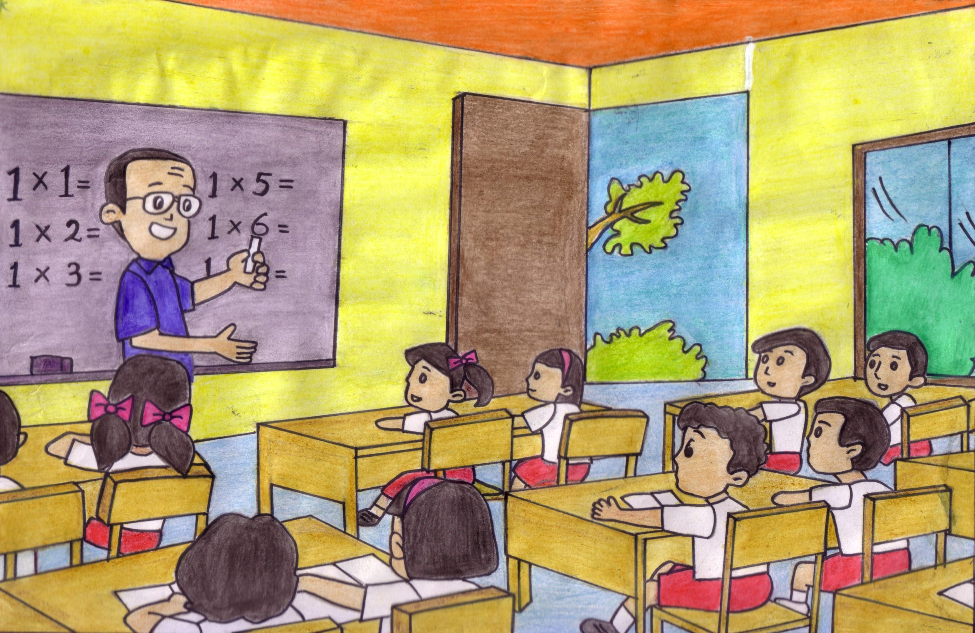 Kumpulan Gambar Kartun Guru Mengajar Muridnya Terbaru Kolek Gambar