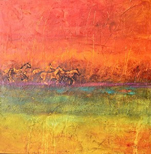"Into the Sunset by Filomena Booth Acrylic ~ 40"" x 40"""