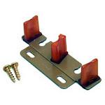 Johnson Hardware 2135-ppk1 Bypass Door Adjustable Guide, Wood Tone Finish