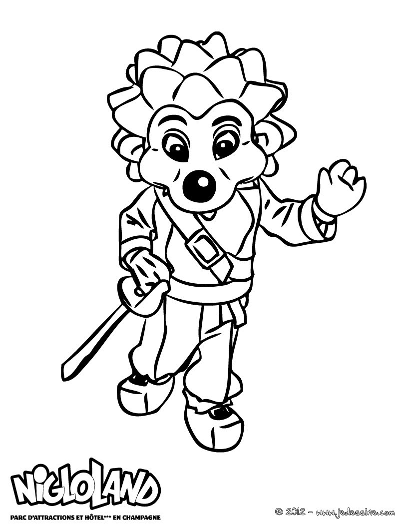 Coloriage NIGLO Pirate