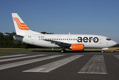 Aero Contractors (Nigeria) Boeing 737-522 5N-BKR (msn 26699) QLA (Antony J. Best). Image: 900618.