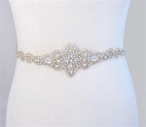 Bridal Belt, Crystal Rhinestone Wedding Dress Sash