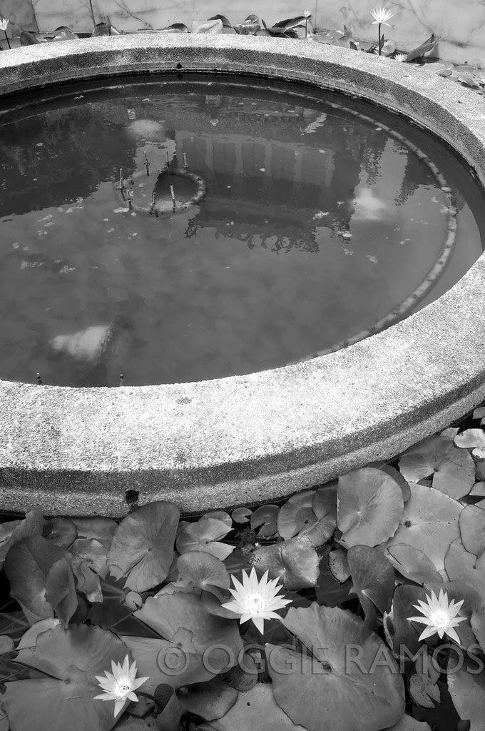 La Union - Ma-Cho Temple Reflection in Mono