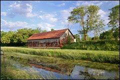 Rusty Barn Along Canal