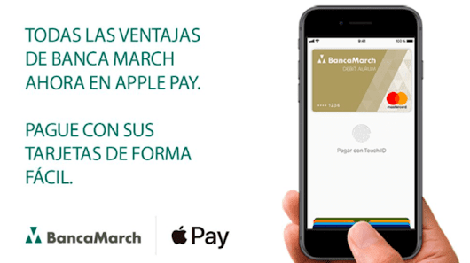 BBVA y Banca March compatibles con Apple Pay