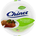 Chinet Classic White Dinner Plates, 10-3/8 Inch - 32 plates