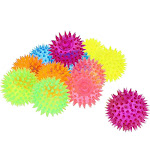 12 Packs Spiky Stress Relief Balls Party Favor Toys, Squeeze Squishy Gifts for Kids Adults and Anxiety, 6 Colors, 2.5 Inches