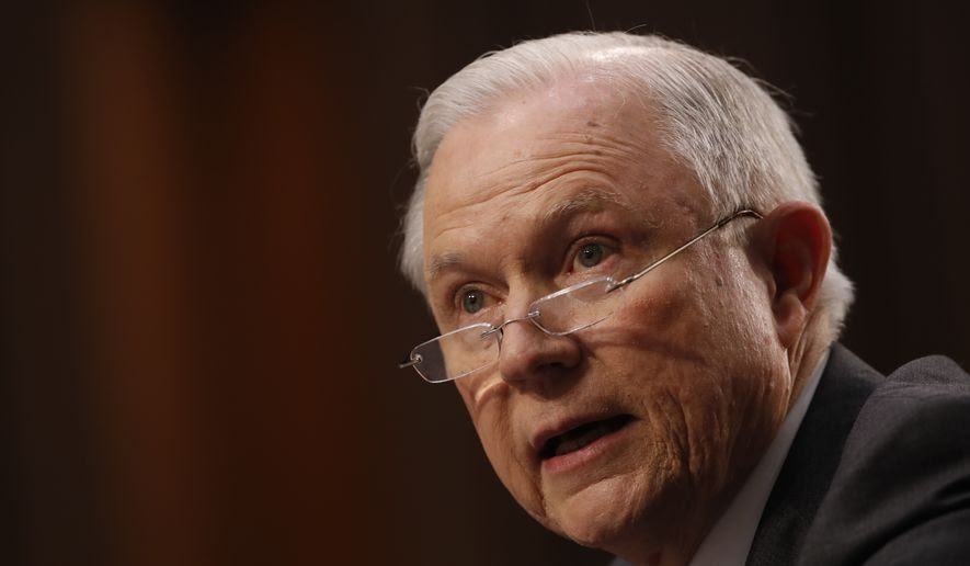 Attorney General Jeff Sessions testifies on Capitol Hill in Washington, Tuesday, June 13, 2017, before the Senate Intelligence Committee hearing about his role in the firing of James Comey, his Russian contacts during the campaign and his decision to recuse from an investigation into possible ties between Moscow and associates of President Donald Trump. (AP Photo/Jacquelyn Martin)