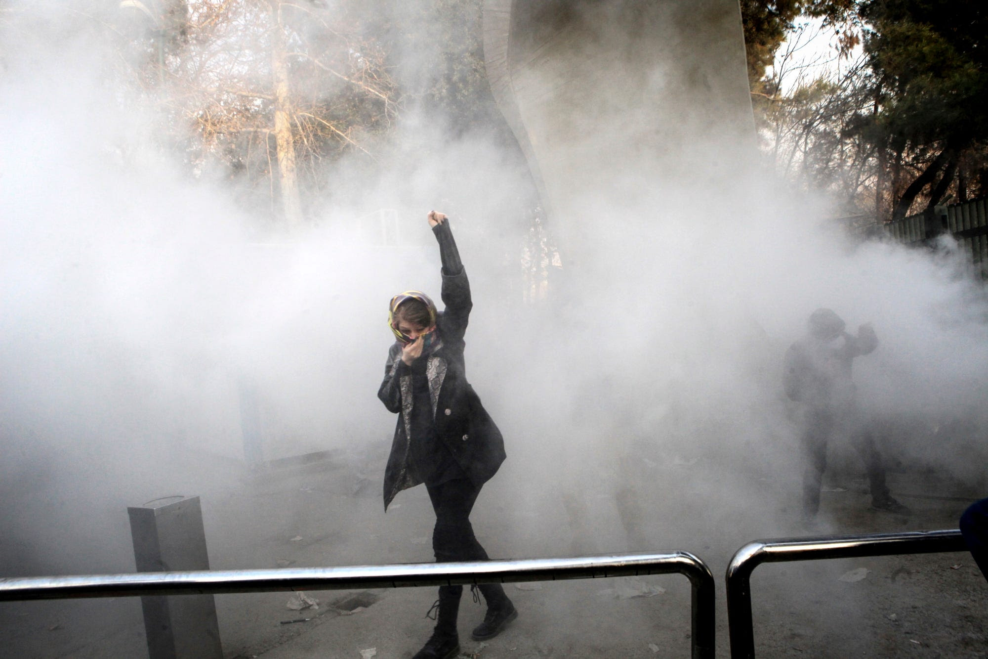 Image result for At least 20 people are dead and 450 detained in Iran's bloody week of protests