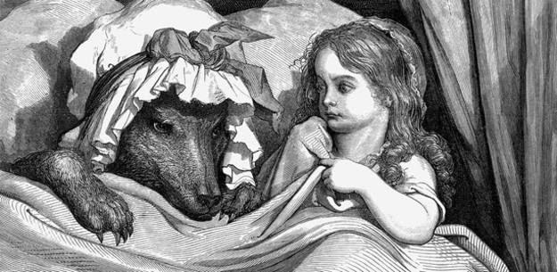 Caperucita Roja y el lobo vistos por Gustave Doré