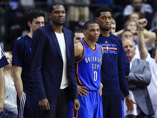 """+Oklahoma City Thunder star +Kevin Durant has been """"removed from basketball activities,"""" and could miss..."""