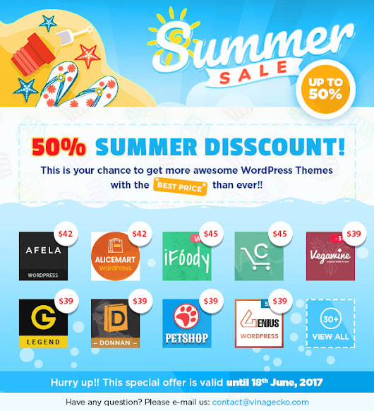 Super Summer Sale! 2017 - Vina Web Solutions