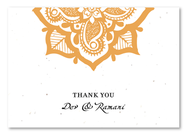 Henna Flower Thank You Cards