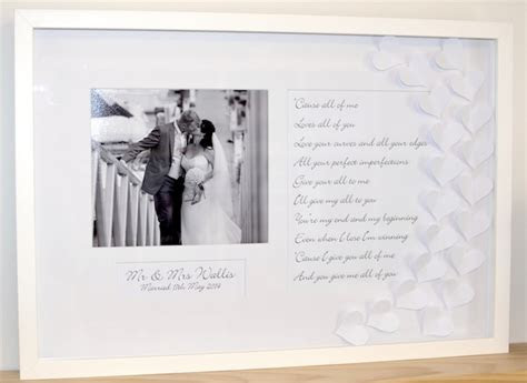 Love Frame Unique Way To Display Vows For Wedding First