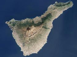 Imagen satélite de la isla de Tenerife