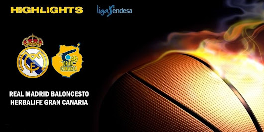VÍDEO | Highlights | Real Madrid vs Herbalife Gran Canaria | Liga Endesa | J11 – El Diario de Mou