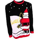 Forum Novelties Santa Peeing in Snow Sweater Pee Break Novelty Crew Neck Ugly Christmas Sweater Adult