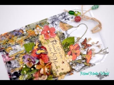 Video Tutorial by Inna Bronnikova -Transparent tag with dried herbs