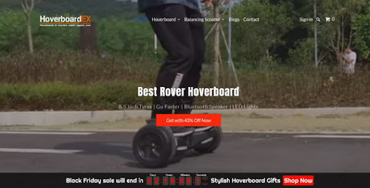 Rover Hoverboard Black Friday Sale 2017 @ HoverboardEX - China Gadgets Reviews