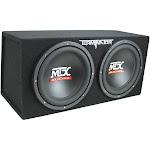 MTX TNE212D 12-Inch 1200-Watt Car Audio Dual Loaded Subwoofer Box Enclosure by VM Express