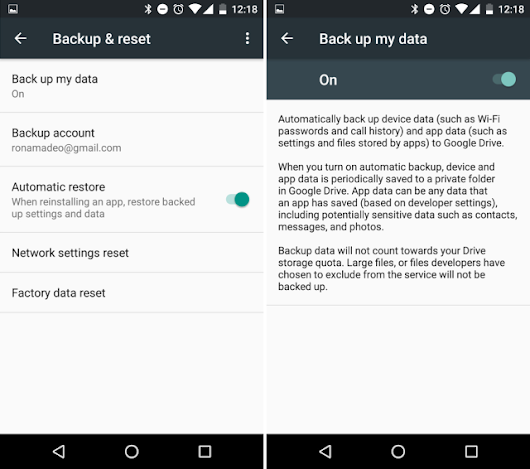 Android 6.0 has a great auto backup system that no one is using (yet)