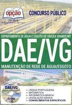 Apostila concurso DAE Várzea Grande MANUTENÇÃO DE REDE DE ÁGUA/ESGOTO