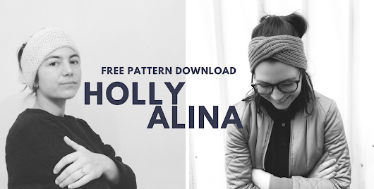 Free knitting patterns: Make your own ALINA or HOLLY headband!