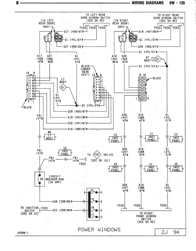 1996 Jeep Cherokee Stereo Wiring Diagram - Wiring Diagram ...