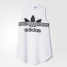 adidas - LONG TANK DRESS White AZ4102