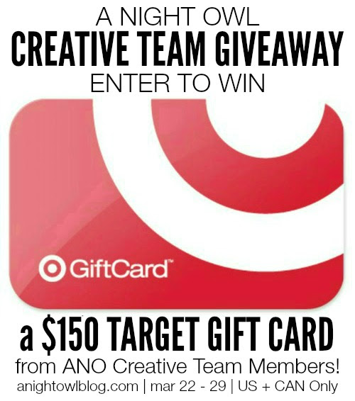 A Night Owl Creative Team $150 Target Gift Card Giveaway! - Bread Booze Bacon