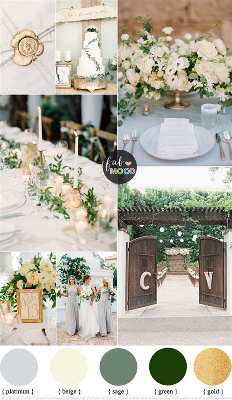 Gold and Green Wedding Colours Perfect For An Elegant