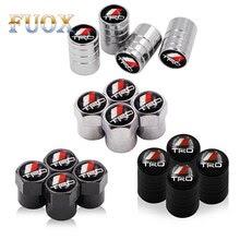 4PCS/set  Valve Stem Caps Cover For Toyota CROWN REIZ TRD Racing LOGO Sticker