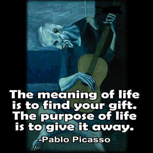 The Meaning Of Life Pablo Picasso 600x600 Quotesporn