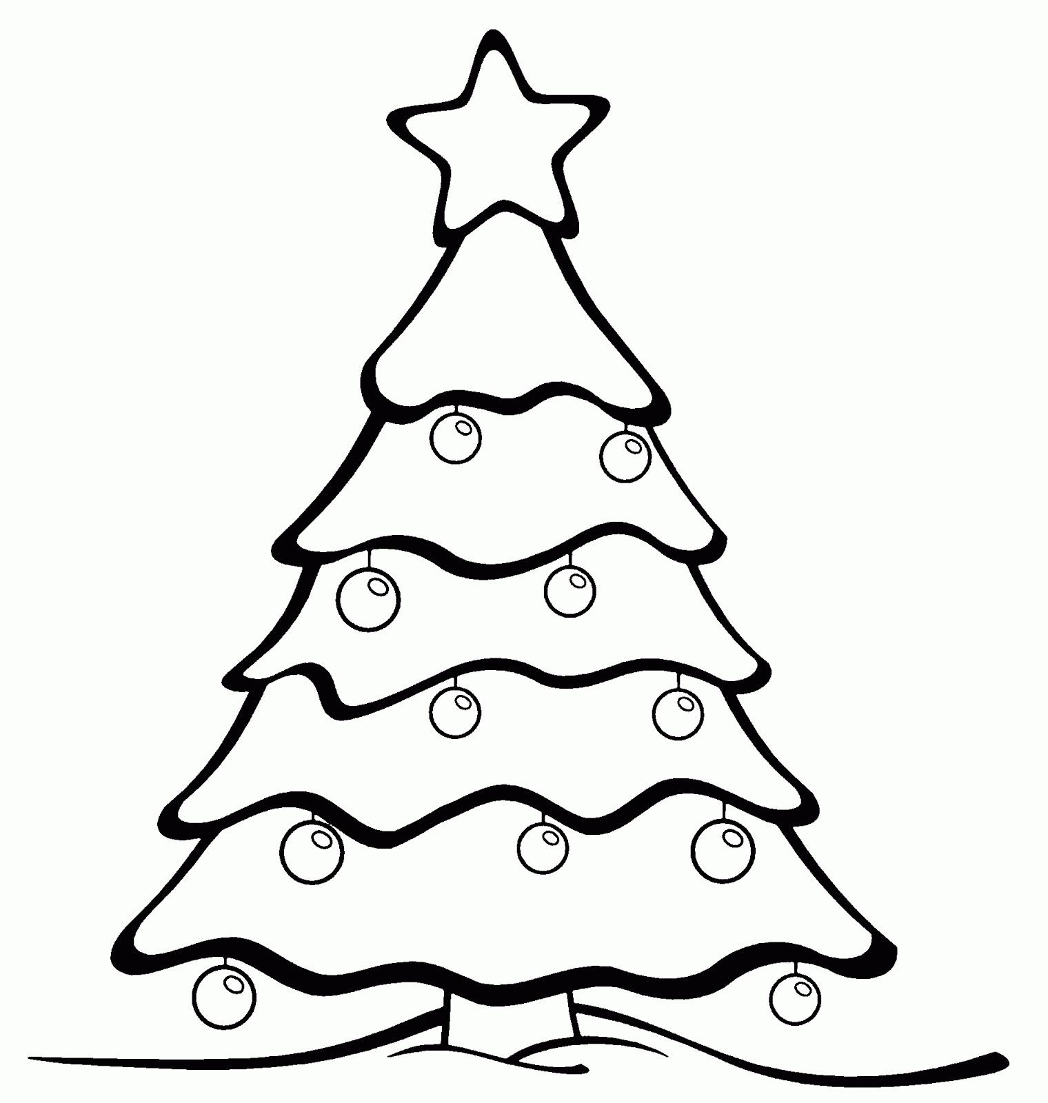 Dibujos de \u00c1rboles de Navidad para colorear e imprimir