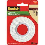 3M Scotch Heavy Duty Mounting Tape, White