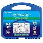"Panasonic Eneloop 2100 Cycles Power Pack Starter Kit (eneloop 8AA + 2AAA + 2 ""C"" CellSpacers + 2 ""D"" cell Spacers + 4 Position Ch"
