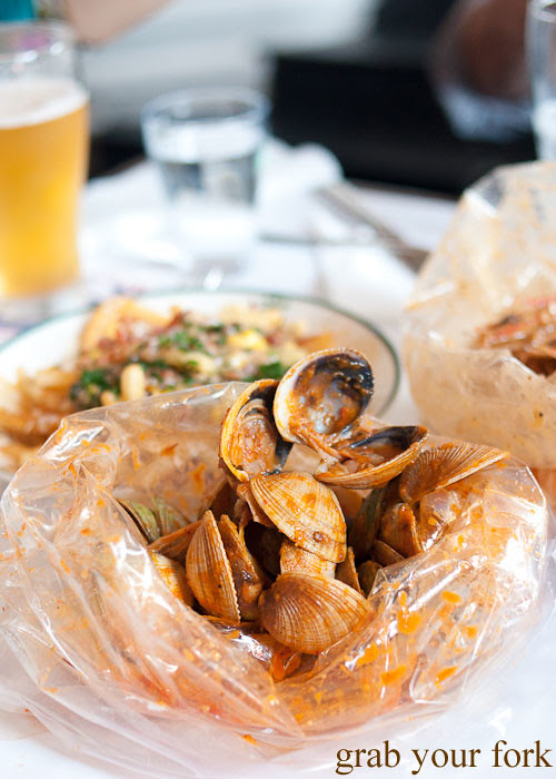 Little neck clams at House of Crabs, Norfolk Hotel, Redfern