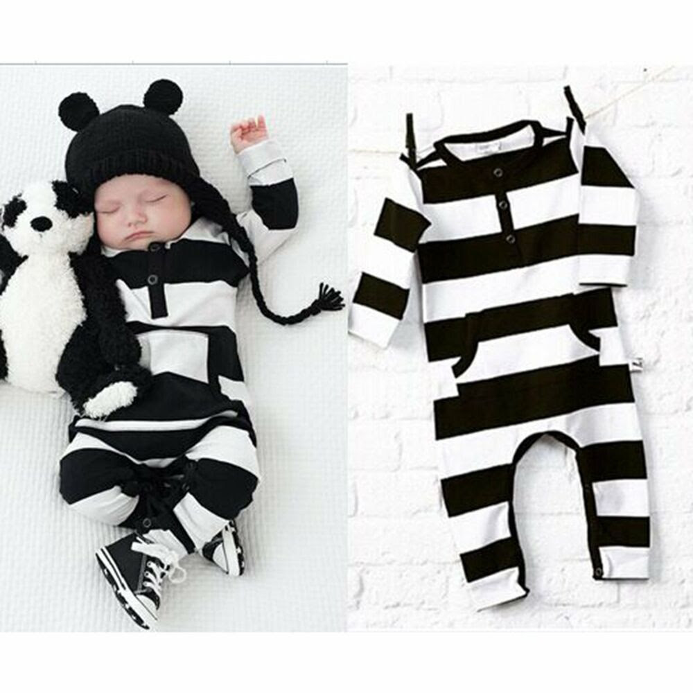 Baby Kids Boys Girls Warm Infant Romper Jumpsuit Bodysuit Cotton Clothes Outfits  eBay