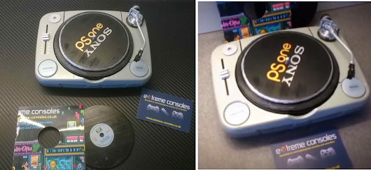 Customized PS One Console is Converted to a DJ's Turntable with 3D Printed Parts