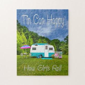 Tin Can Happy Vintage Camper Puzzle