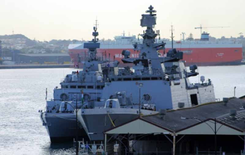 INS Kamorta with the frigate INS Satpura