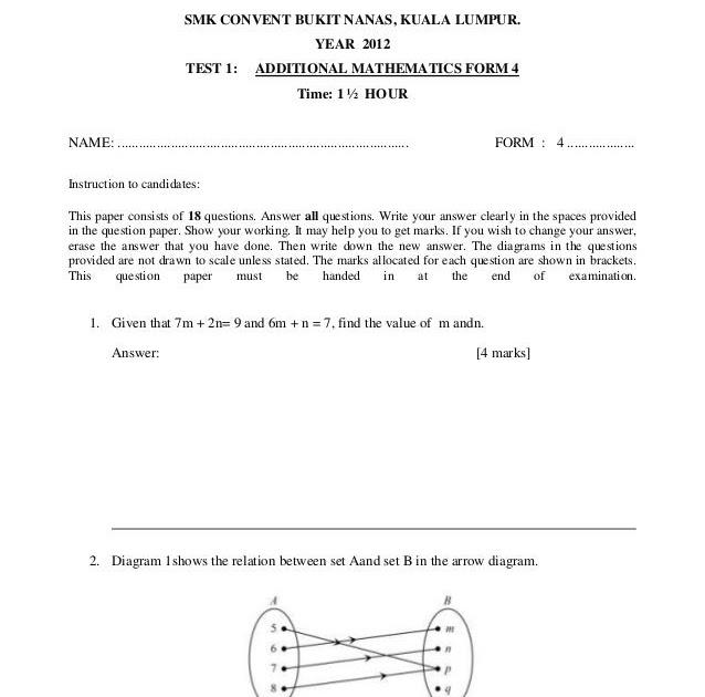 Soalan Add Math Tingkatan 4 Dan Skema Jawapan - Selangor q