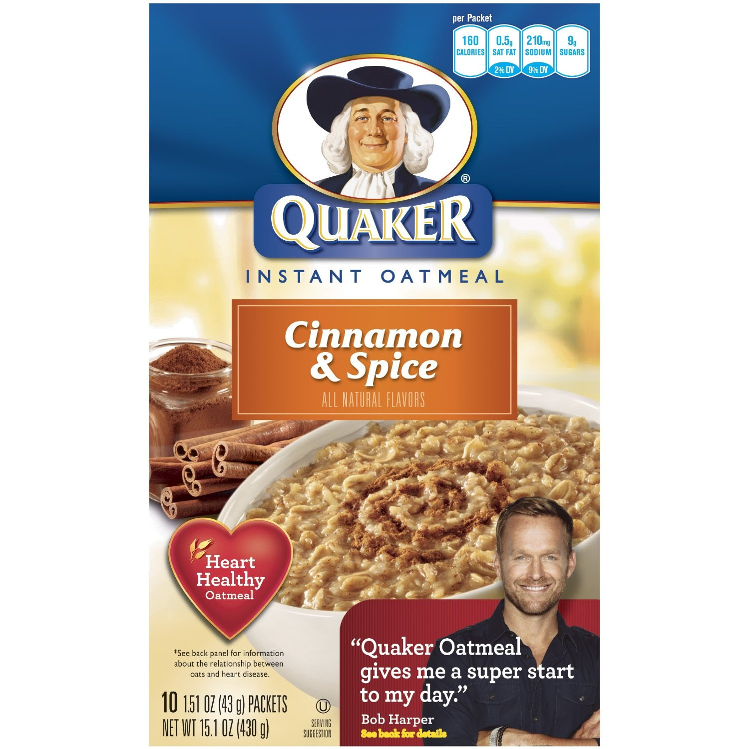 gross Cinnamon and Spice Quaker oatmeal packets